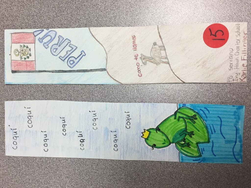 2nd Place World Lang Fest Bookmark